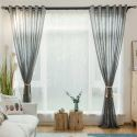 Japanese Versatile Sheer Curtain Simple Gray Sheer Curtain Soft Solid Fabric(One Panel)