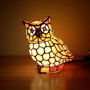 Animal Lamp Animal Style Owl Tiffany Table Lamp