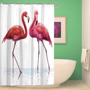 Pink Modern Shower Curtain Flamingo Printed Shower Curtain Decorative Bath Curtain