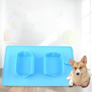 Pet Skidproof Placemat Silica Gel Placemat Cats Dogs Portable Folding Bowl Supplies