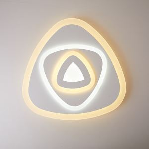 LED Ceiling Light Energy Saving Lighting Fixture Triangle Design Living Room Bedroom