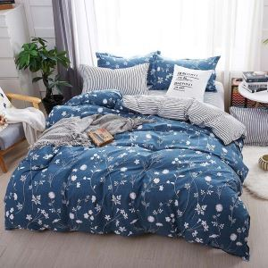 Rural Fresh Bedding Set Modern Simple Bedclothes with Little Flower Pattern 4pcs Duvet Cover Sets