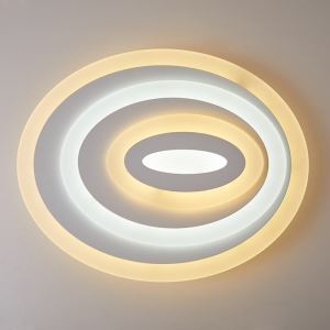 LED Flush Mount Light Flat Ultrathin Living Room Bedroom Lighting Fixture Oval Shape