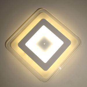 LED Ceiling Light Living Room Ultra Thin Fixture Square Shape Energy Saving