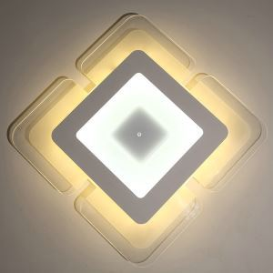 LED Flush Mount Modern Ceiling Light Ultrathin Fixture Irregular Shape