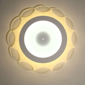 LED Flush Mount Modern Ceiling Light Ultrathin Fixture Flower Design