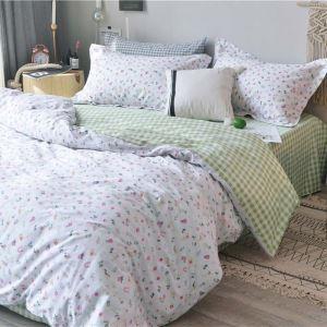 Rural Style Bedding Set Fresh Floral Bedclothes Modern Environmental Friendly 4pcs Duvert Cover Set