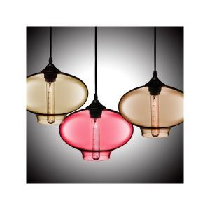 (In Stock) Hand-Blown Glass Pendant Light Fish Bowl Shade Ceiling Fixture with 1 Light  Dining Room Living Room Bedroom Ceiling Lights(Color of Love)