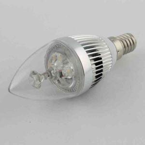4Pcs 3W E14 LED Candle Bulb WarmWhite/Cool White 270LM AC85-265V Silver