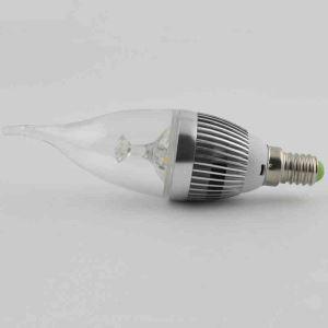 3Pcs 3W E14  LED Candle Bulb Warm White/Cool White 270 LM AC85-265V Silver