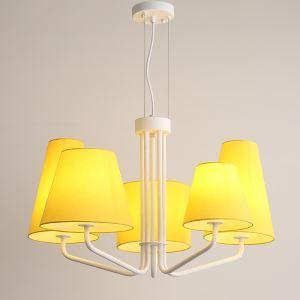 Modern Cloth Art Pendant Light 1 Tier 5-lights Pendant Light Living Room Dining Room Lighting