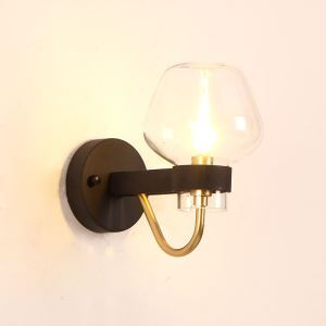 Modern Vintage Wall Light Glass Shade Sconce Hallway Dining Room Lighting