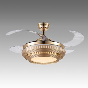 Modern Fan Ceiling Light Mute Fan Light Exquisite Two Floor Cake Shape Decoration Light with Remote Control