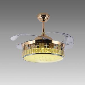 Modern Ceiling Fan Light Mute Fan Light Exquisite Unique Decoration Light with Remote Control