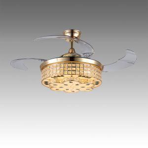 Modern Ceiling Fan Light Mute Fan Light Exquisite Flower Pattern Decoration Light with Remote Control