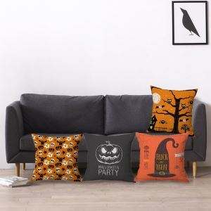 Cute Odd Pillow Cover Halloween Theme Pillow Cover Soft Cotton and Flax Pillow Case