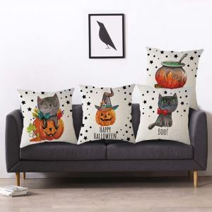 Cute Pumpkin Pillow Cover Halloween Theme Odd Pillow Case