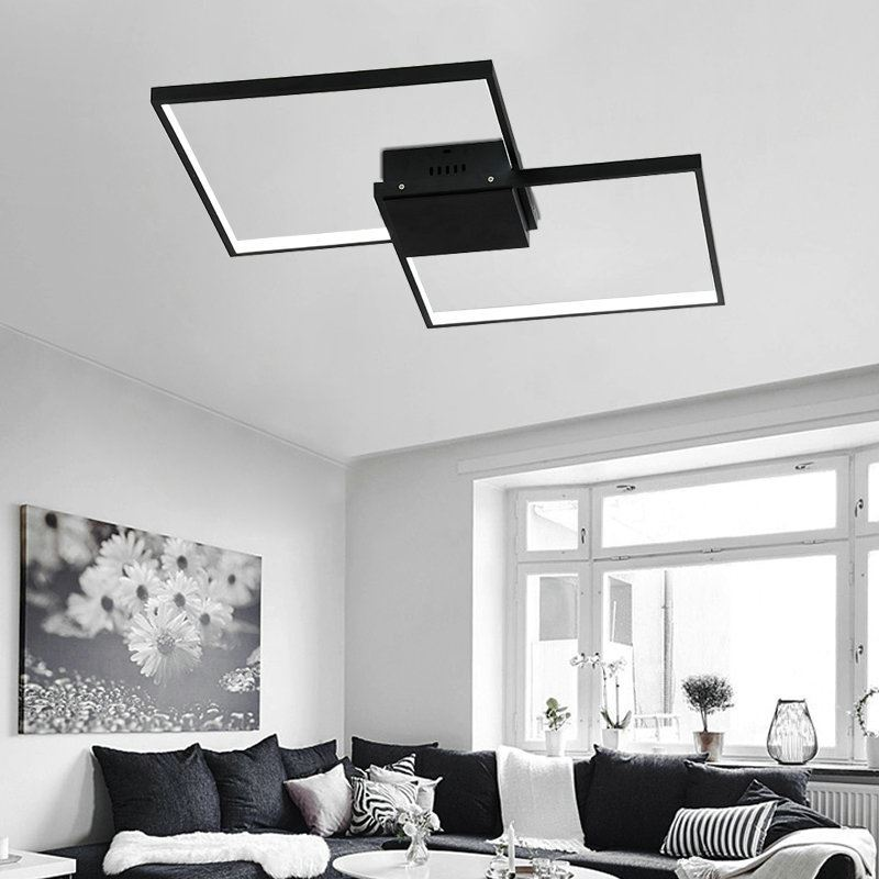 Flush Mount Led Ceiling Light Modern Simple Acrylic