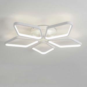 Flush Mount LED Ceiling Light Modern Simple Acrylic 5 Diamonds Ceiling Light Energy Saving Light