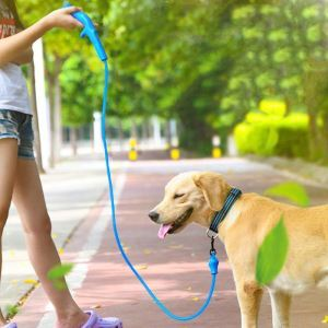 Pet Leash USB Charging Dog Leash Middle Dog Small Dog LED Round Leash