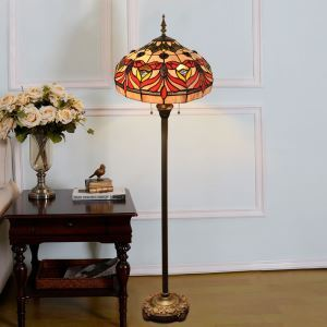 Tiffany Floor Lamp Handmade Colorful Antique Pattern Standard Lamp