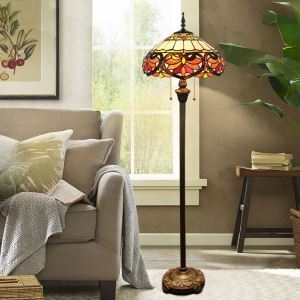 Tiffany Floor Lamp Handmade Colorful Umbrella Shape Standard Lamp