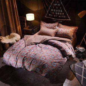 American Antique Bedding Set Unique Flower Bedclothes 4pcs Printing Duver Cover Sets