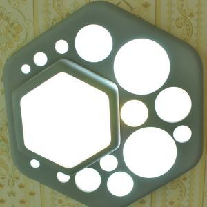 Modern Simple LED Ceiling Light Hexagon Ceiling Light Matt Green Shade