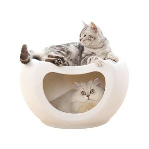 Pet Bed Semi Enclosed Cat House Double Layers Cat Bed