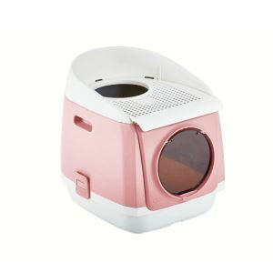 Cat Litter Basin Double Doors Enclosed Toilet Foldable Deodorizing Cat Supplies