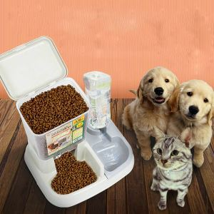 Pet Bowl Semi-automatic Feeding Water Dispenser