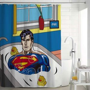 Waterproof Mouldproof Shower Curtain Personalized Odd Superman Bath Curtain