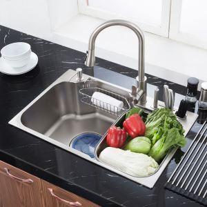 Contemporary Kitchen Sink 304 Stainless Steel Sink MF7247