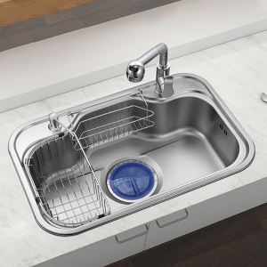 Contemporary Kitchen Sink 304 Stainless Steel Sink MF7548