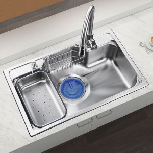 Drainboard Sink Contemporary Kitchen Sink 304 Stainless Steel MF7848