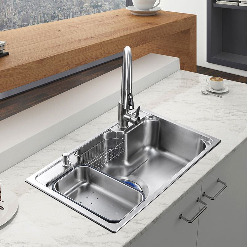 Drainboard Sink Contemporary Kitchen Sink 304 Stainless