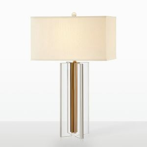 Contemporary Simple Table Lamp Square Shade Desk Light