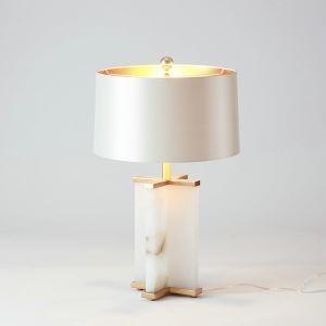 Contemporary Simple Table Lamp Unique Fixture Fabric Shade Study Desk Lamp