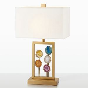 Contemporary Simple Talbe Lamp Special Fixture Table Lamp Iron Agate Desk Light