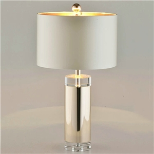 Contemproary Simple Table Lamp Round Shape Table Lamp Iron Crystal Desk Light