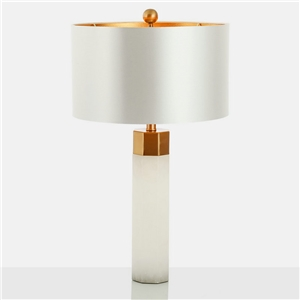 Contemporary Simple Table Lamp Iron Dolomite Table Lamp White Desk Light
