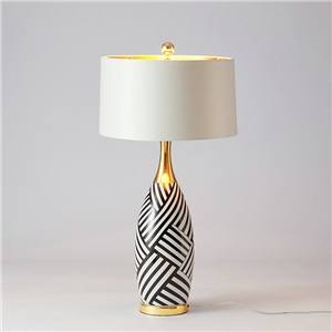 Contemporary Simple Table Lamp Ceramic Vase Shape Fixture Table Lamp Bedroom Living Room Desk Light