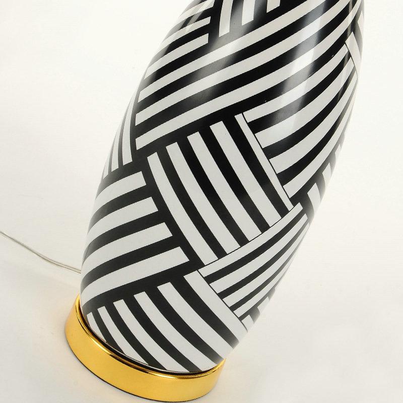 Modern Ceramic Vase Table Lamp: Contemporary Simple Table Lamp Ceramic Vase Shape Fixture