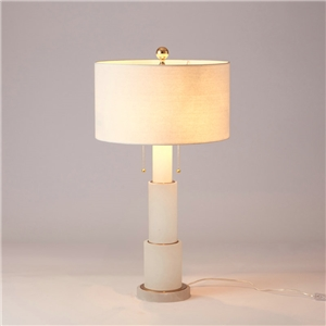 Contemporary Simple Table Lamp Candle Shape Iron Dolomite Table Lamp Bedside Living Room Desk Light