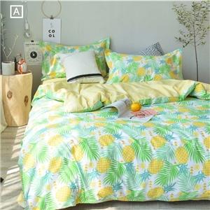 Southeast Asian Style Bedding Set Pineapple Printing Bedclothes Environmental Friendly Pure Cotton 4pcs Duvet Cover Set