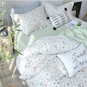 Rural Fresh Bedding Set Little Flower Pattern Bedclothes Modern Simple 4pcs Duvet Cover Set
