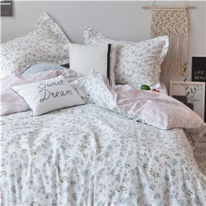 Cartoon Cute Bedding Set Simple Fresh Bedclothes Girl's Favourite 4pcs Duvet Cover Set