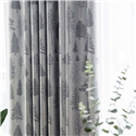 Modern Simple Curtain Pine Tree Printing Curtain Living Room Bedroom Blackout Fabric