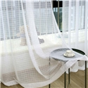 Nordic Simple Sheer Curtain White Check Jacquard Sheer Curtain Living Room Bedroom Fabric