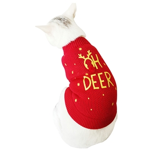 Pet Clother Christmas Dog Dress with Letter Pattern